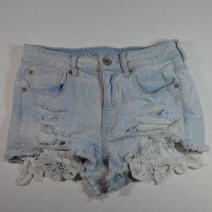 American Eagle Light Wash Lace Pockets 6